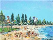 Sale 8475 - Lot 542 - Kevin Charles (Pro) Hart (1928 - 2006) - Glenelong Beach III 35 x 46cm