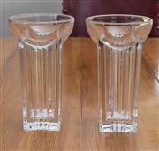 Sale 8470H - Lot 179 - A pair of Villeroy & Boch Deco style crystal vases, H 19cm