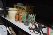 Sale 8563T - Lot 2582 - Collection of items incl Tins, Yarn Winder, Shears Chopper etc