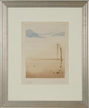 Sale 8762 - Lot 2005 - Peter Hickey (1943 - ) - Pittwater View, 1982 24 x 18cm