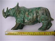 Sale 8064A - Lot 59 - Rhinoceros Carved from Greenstone
