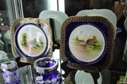 Sale 8226 - Lot 39 - Worcester Hand Pair of Painted Plates of Walford & Wick