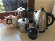 Sale 8380A - Lot 35 - A group of wares including tea pots, coffee pots and related canisters.