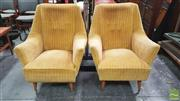 Sale 8395 - Lot 1091 - Good Pair of Upholstered Vintage Armchairs