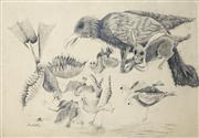 Sale 8466A - Lot 5091 - Anne Hall (1946 - ) (2 works) - Animal Farm, 1969; Bats, 1969 101 x 70cM; 70 x 101cm each (sheet size)
