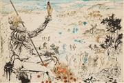 Sale 8597 - Lot 598 - Salvador Dali (1904 - 1989) - The Age of Gold, Don Quixote 40 x 61cm