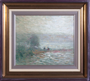 Sale 8677B - Lot 908 - Glen Preiss - Harbour Scene, oil on board, 32cm x 38cm, signed lower left