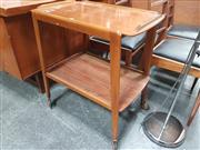 Sale 8723 - Lot 1029 - 1960s Two-Tier Teak Tea Trolley