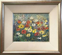 Sale 9101 - Lot 2001 - Doreen Gadsby Floral Pattern oil on canvas 36 x 41cm (frame) signed