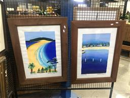 Sale 9176 - Lot 2161 - Jennifer Baird (2 works) Palm Beach and Camp Cove gouache on paper, each 58 x 40.5cm and signed -