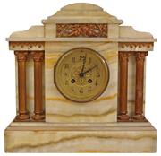 Sale 7978 - Lot 71 - French Onyx 19th Century Marble Mantle Clock by Davies & Sons