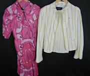 Sale 7982B - Lot 20 - Burberry, Trench coat and pant suit