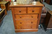 Sale 8115 - Lot 1488 - Timber Chest of 5 Drawers