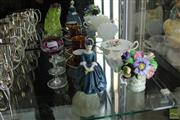 Sale 8226 - Lot 33 - Royal Doulton Figure Cherie with Other Wares incl. Val St Lambert
