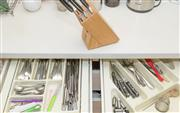 Sale 8380A - Lot 36 - Four drawers of cutlery together with a knife block