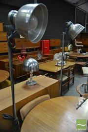 Sale 8409 - Lot 1067A - Pair of Theatre Style Standing Lamps