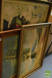 Sale 8464 - Lot 2058 - Group of (3) Original Artworks by Various Artists (framed/various artists)