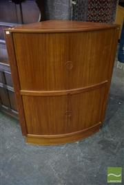 Sale 8528 - Lot 1083 - Danish Corner Cocktail Cabinet with Tambour Doors