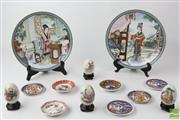 Sale 8529 - Lot 130 - Painted Chinese Egg And Plate Collection
