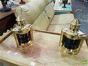 Sale 8532 - Lot 1017 - Pair of Brass Port & Starboard Lights