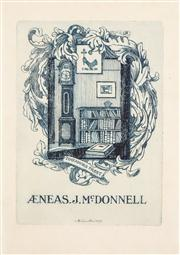 Sale 8545A - Lot 5119 - Adrian Feint (1894 - 1971) - Bookplate for J.McDonnell 11.5 x 8.5cm