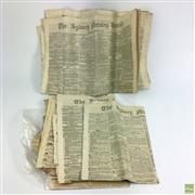 Sale 8652W - Lot 3 - Antique Sydney Morning Herald Newspapers