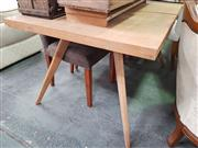 Sale 8672 - Lot 1077 - American Modern Oak Extension Dining Table