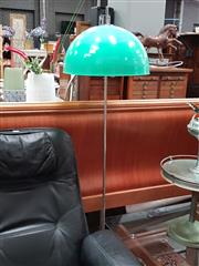 Sale 8688 - Lot 1044 - Plastic Shade Standard Lamp