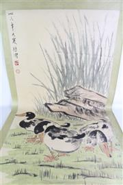 Sale 8909S - Lot 635 - Duck Themed Chinese Scroll