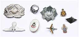 Sale 9144 - Lot 118 - A group of Military badges and ring