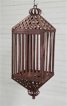 Sale 9188 - Lot 1726 - Moroccan style rustic hanging light fitting (h:75cm)