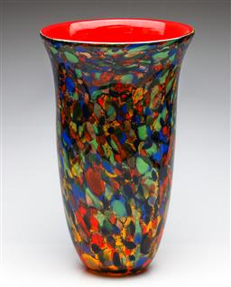 Sale 9255S - Lot 74 - A Large Art Glass Vase With Red Interior (H: 43cm)