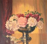 Sale 8000 - Lot 174 - Albert Sherman (1882 - 1971) - Peonies and Tuberoses oil on canvas on board