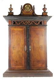 Sale 8040 - Lot 97 - Victorian Buffet Style Upright Crossbanded Walnut Polyphon Disc Musical Box