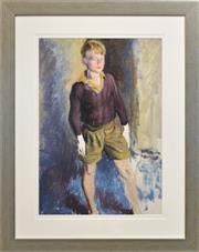 Sale 8389 - Lot 586 - Terence (John) Santry (1910 - 1990) - Michele 74 x 52cm