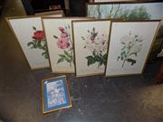 Sale 8422T - Lot 2084 - 4 Framed Prints incl 3 Botanical Prints & an Oriental Print (5)