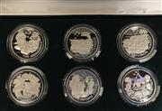 Sale 8465J - Lot 316 - THE AUSTRALIAN BICENTENNIAL COMMEMORATIVE MEDALLION SERIES; proof boxed set of six medallions in 92.5% silver, with cert no. 02908