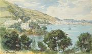 Sale 8503 - Lot 2024 - Charles Worsley (1862 - 1923) - By the Sea 13.5 x 23cm