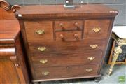 Sale 8507 - Lot 1040 - Late 19th Century Cedar Chest of Seven Drawers, on turned feet (later handles)
