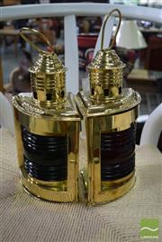 Sale 8532 - Lot 1450 - Pair of Brass Port & Starboard Lights