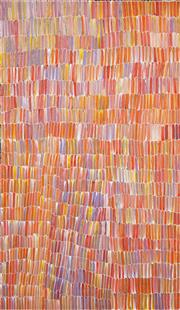 Sale 8552A - Lot 5022 - Jeannie Mills Pwerle (1965 - ) - Bush Yam 165 x 96cm