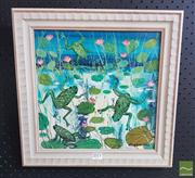 Sale 8552 - Lot 2011 - Colleen M. Parker (1944 - 2008) - Leap Frogs 30 x 30cm approx.