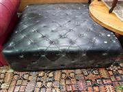 Sale 8611 - Lot 1099 - Large Black Buttoned Upholstered Ottoman (H: 37 W: 120 D: 120cm)