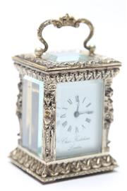Sale 8677 - Lot 5 - Small Charles Frodsham London Carriage Clock (in box) 8cm High