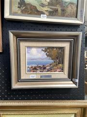 Sale 8910 - Lot 2065 - Werner Filipich - Fishing on Nelsons Bay, oil on board,11.5 x 16.5 cm, signed lower left