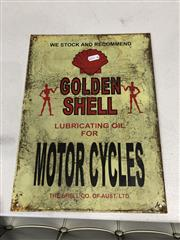 Sale 9006 - Lot 1095 - Tin Shell Motorcycles (38 x 28cm)