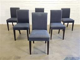 Sale 9157 - Lot 1016 - Set of 6 modern fabric upholstered dining chairs (h87cm)