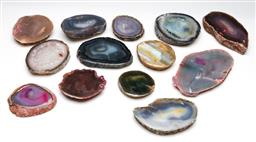 Sale 9255S - Lot 75 - A large collection of polished agate slices width of each approx 9cm