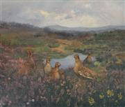 Sale 8000 - Lot 25 - Albert Sherman (1882 - 1971) - Grouse in the Heather oil on canvas