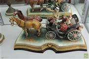 Sale 8226 - Lot 65 - Ceramic Figure Group with Horse & Wagon